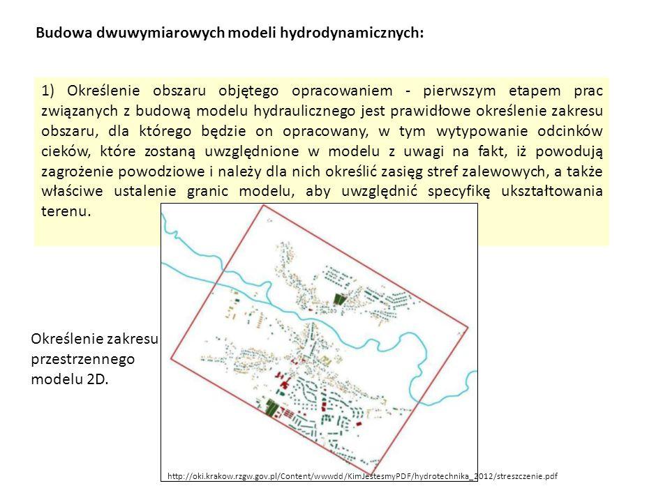 Budowa dwuwymiarowych modeli hydrodynamicznych:
