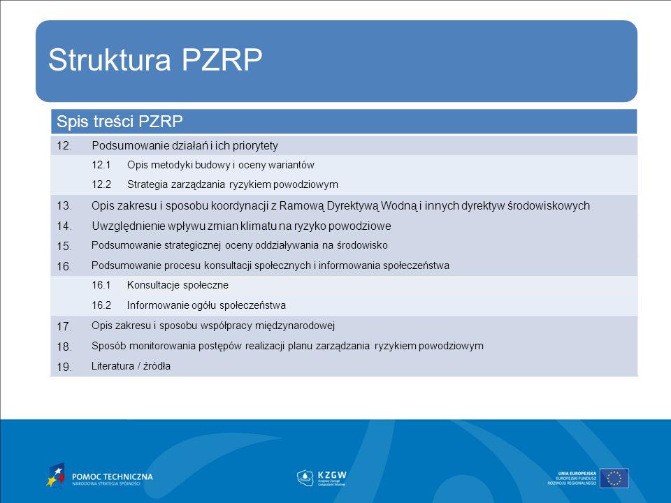 Spis treści PZRP 12. Podsumowanie działań i ich priorytety 13.