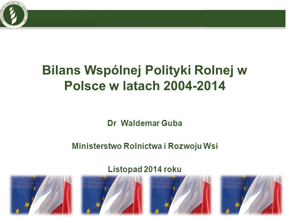Bilans Wspólnej Polityki Rolnej w Polsce w latach 2004-2014