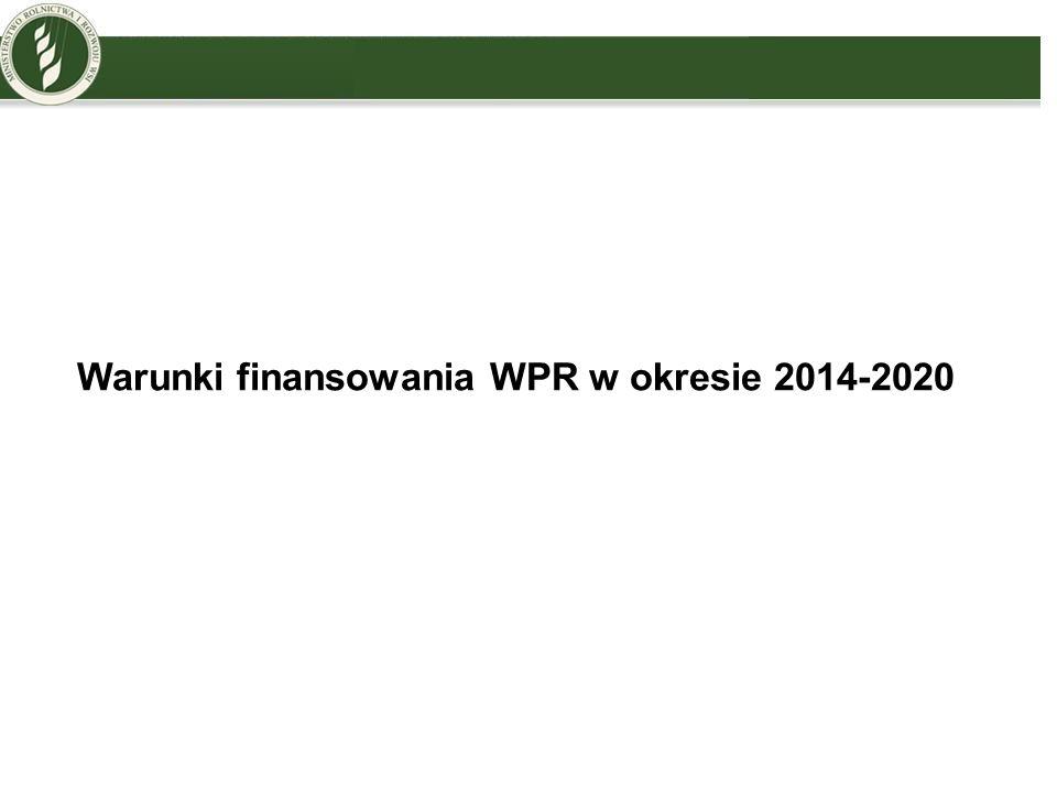 Warunki finansowania WPR w okresie 2014-2020