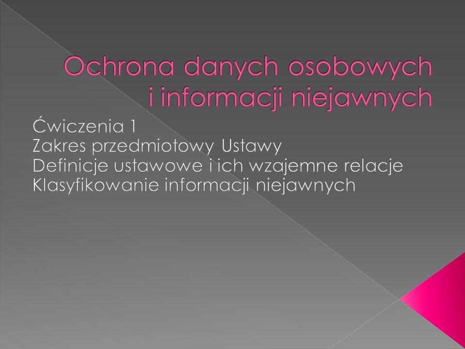 Ochrona danych osobowych i informacji niejawnych
