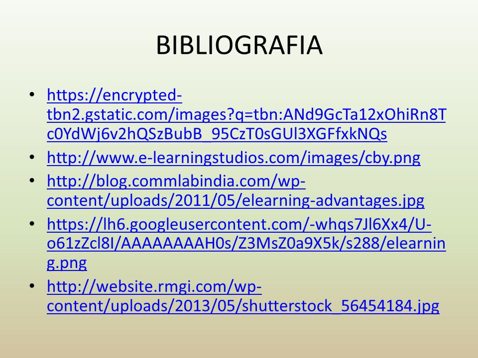 BIBLIOGRAFIA https://encrypted-tbn2.gstatic.com/images q=tbn:ANd9GcTa12xOhiRn8Tc0YdWj6v2hQSzBubB_95CzT0sGUl3XGFfxkNQs.