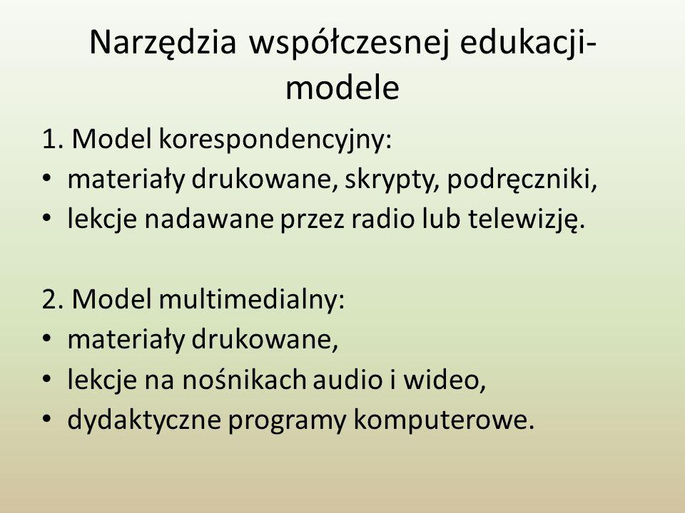 Narzędzia współczesnej edukacji- modele