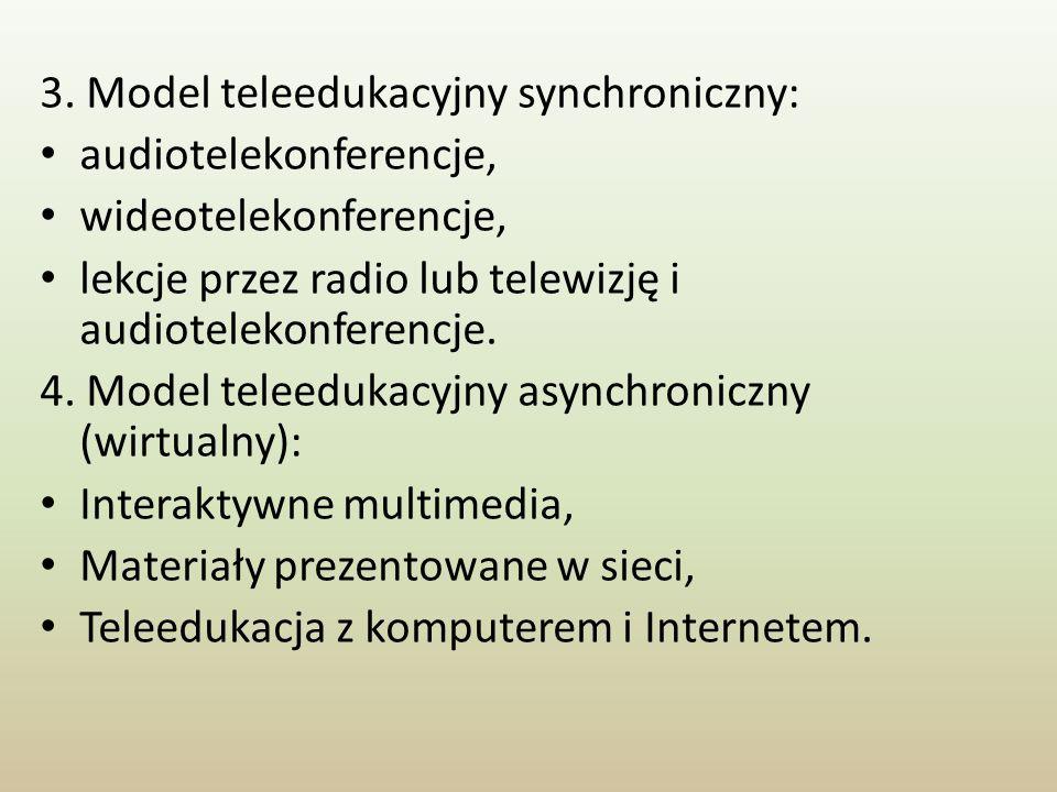 3. Model teleedukacyjny synchroniczny: