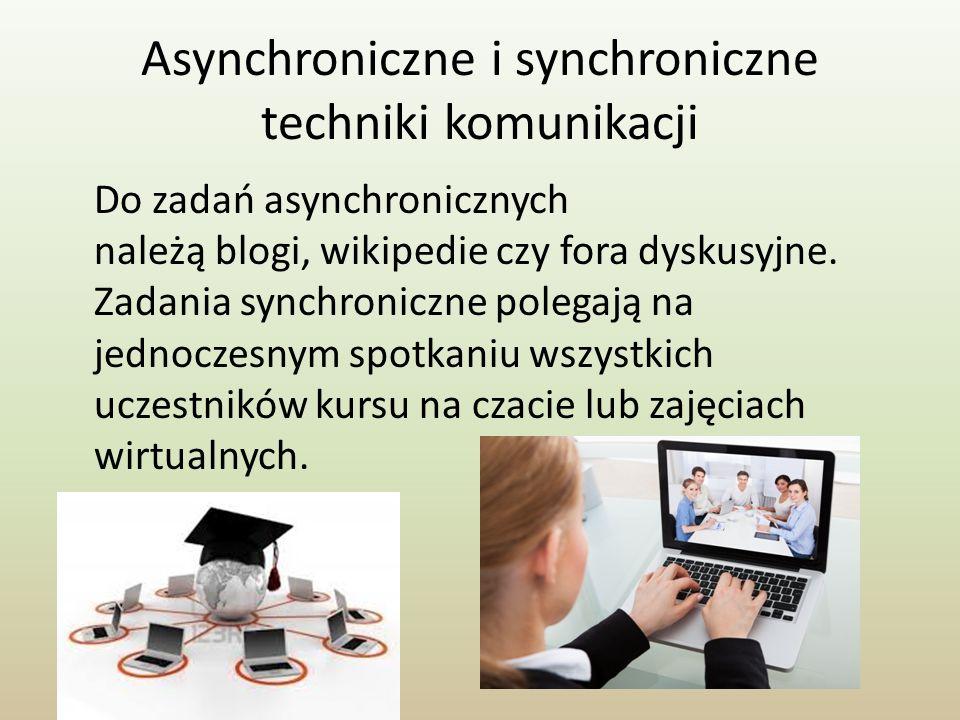 Asynchroniczne i synchroniczne techniki komunikacji
