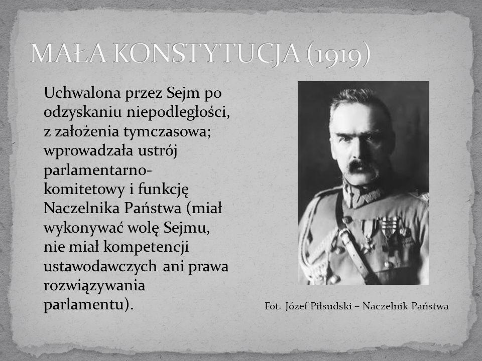 MAŁA KONSTYTUCJA (1919)