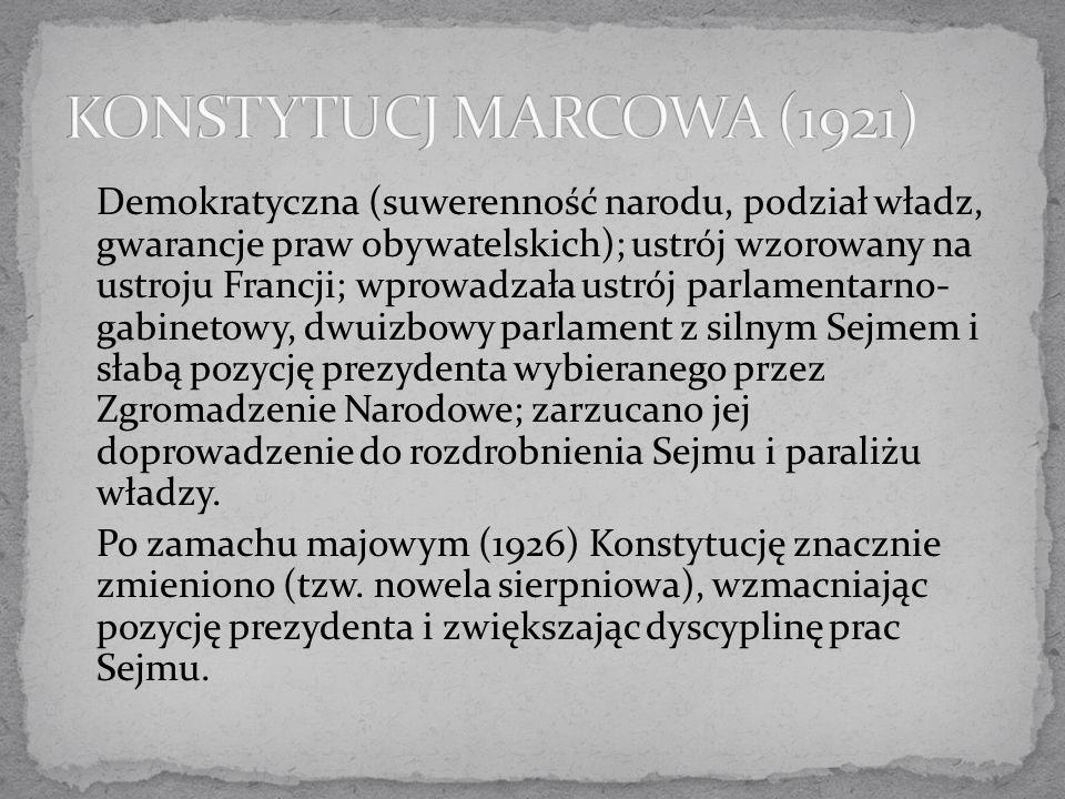 KONSTYTUCJ MARCOWA (1921)