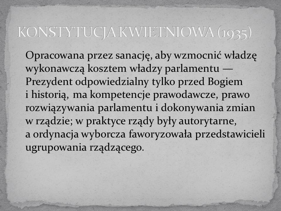 KONSTYTUCJA KWIETNIOWA (1935)