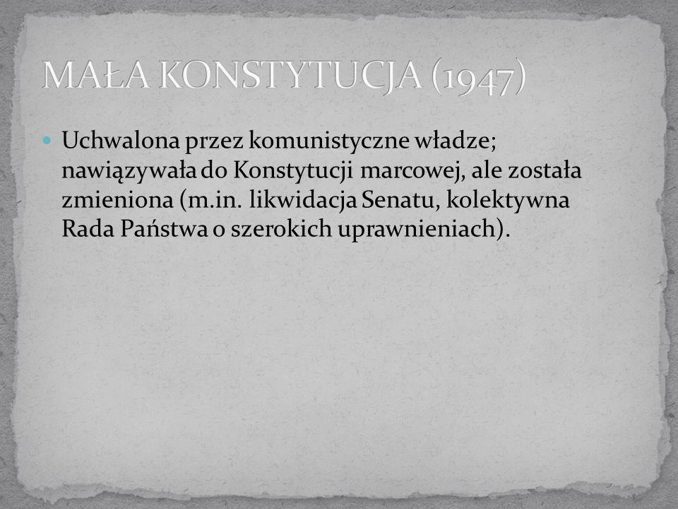 MAŁA KONSTYTUCJA (1947)