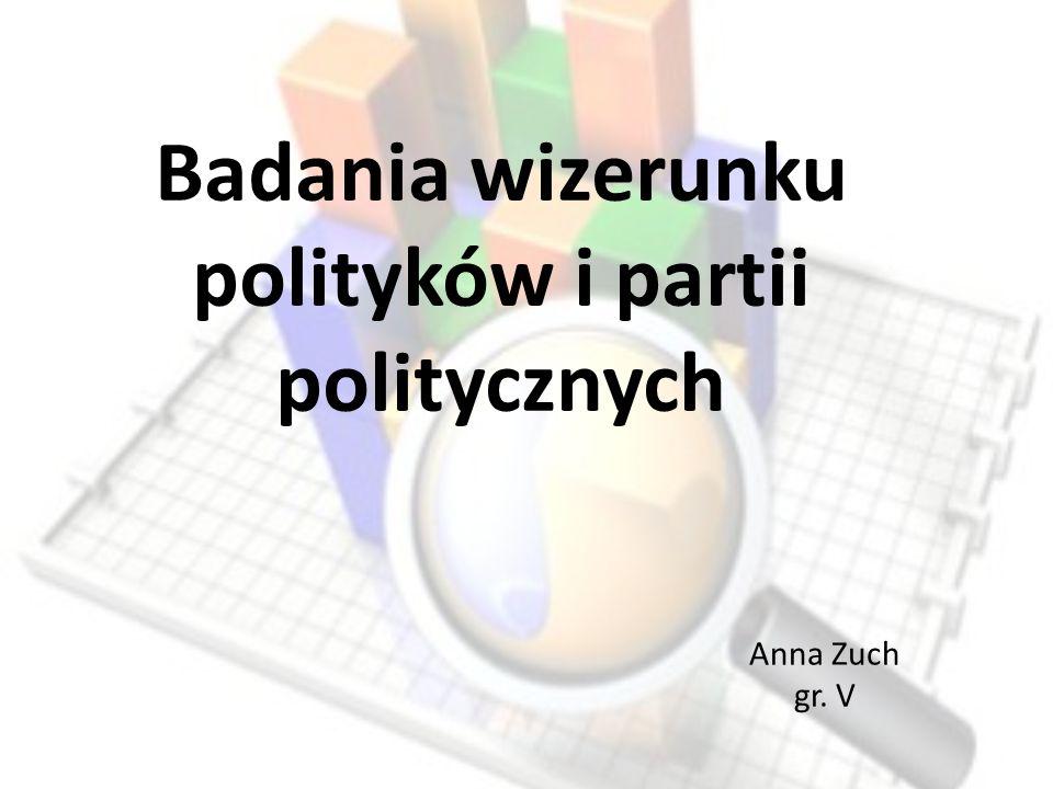 Badania wizerunku polityków i partii politycznych