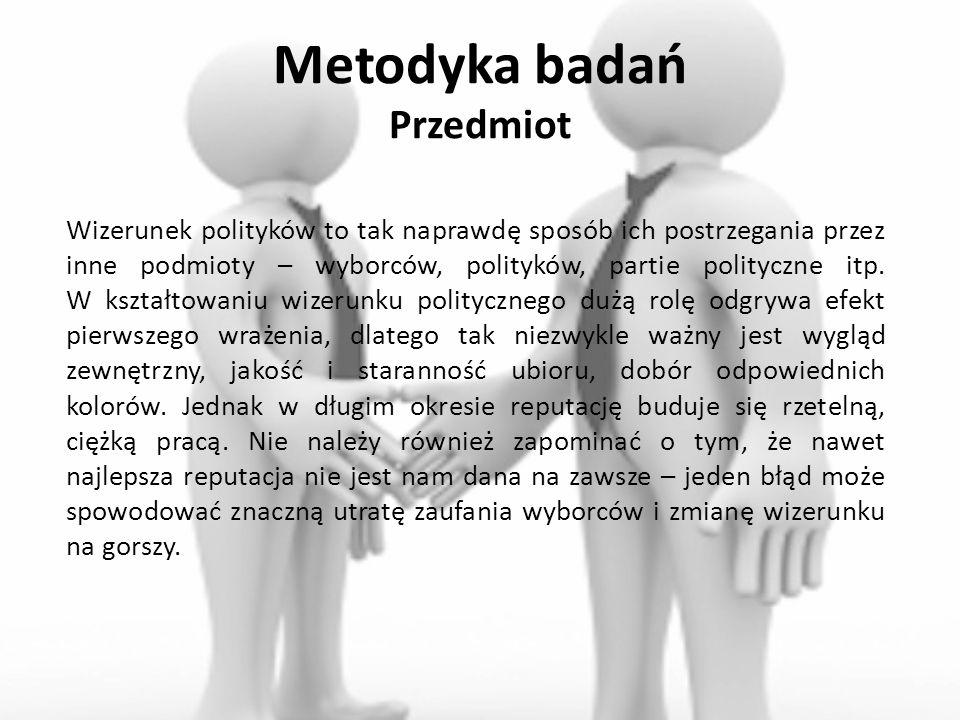 Metodyka badań Przedmiot