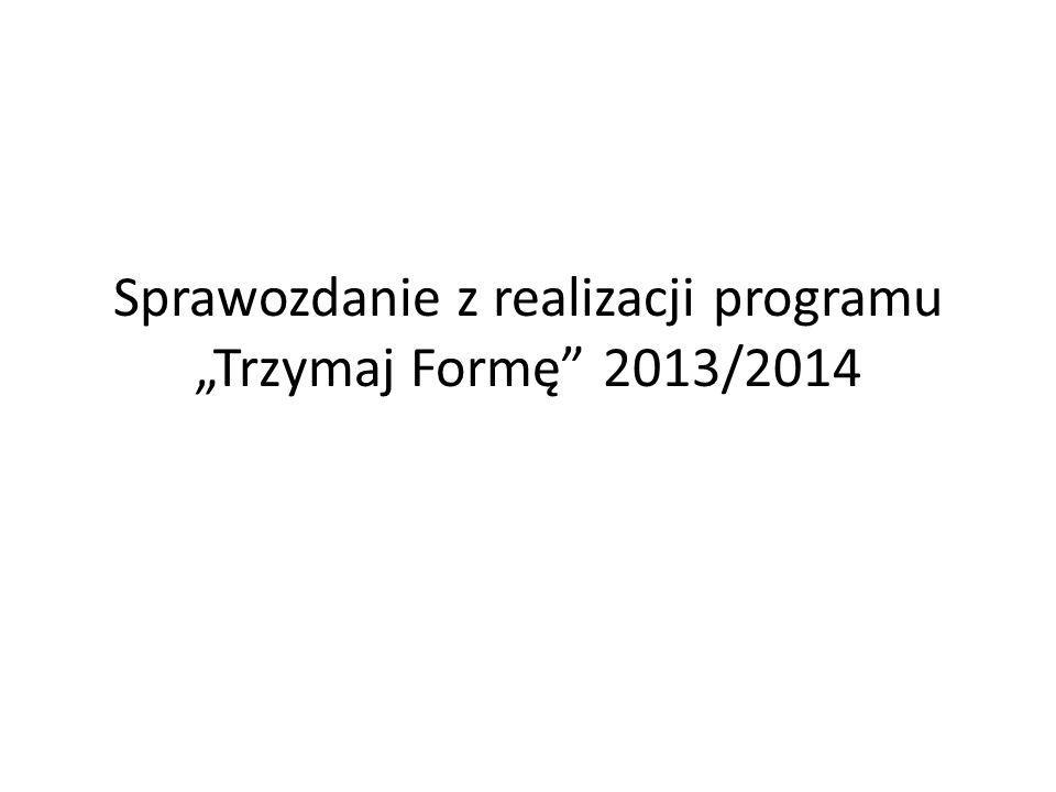 """Sprawozdanie z realizacji programu """"Trzymaj Formę 2013/2014"""