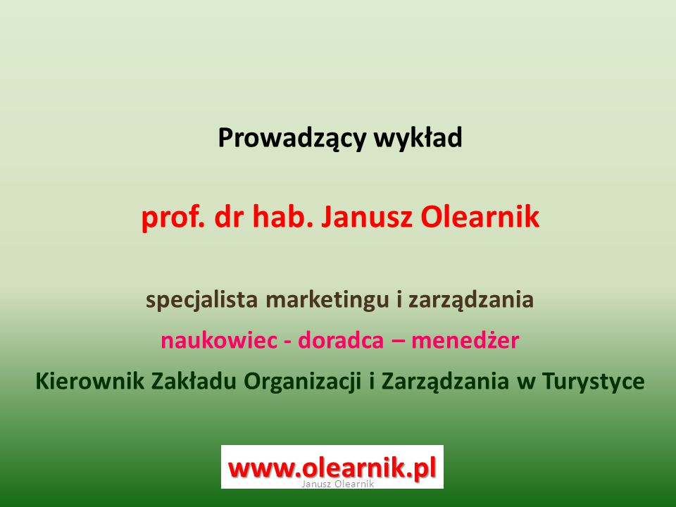 prof. dr hab. Janusz Olearnik