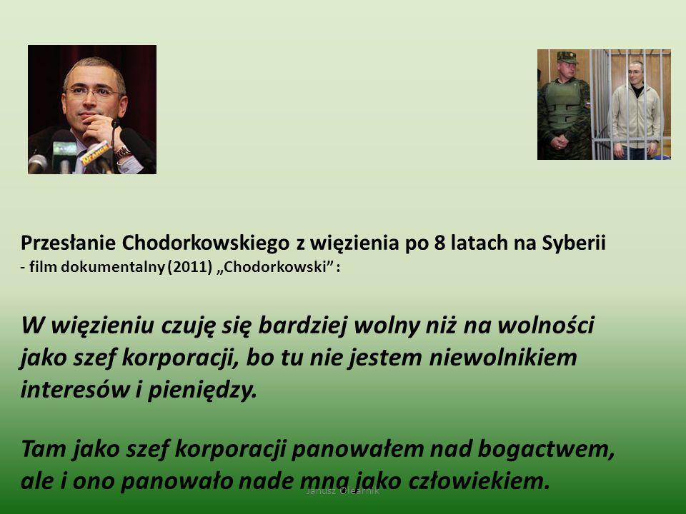 """Przesłanie Chodorkowskiego z więzienia po 8 latach na Syberii - film dokumentalny (2011) """"Chodorkowski :"""