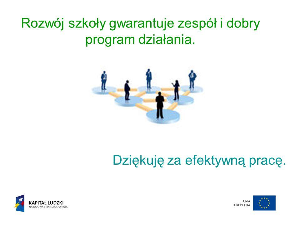 Rozwój szkoły gwarantuje zespół i dobry program działania.