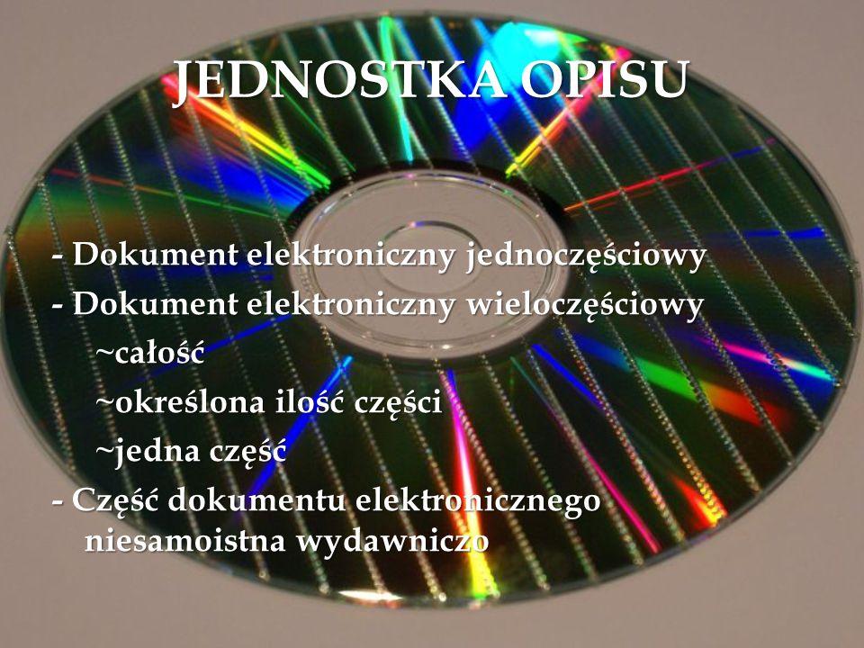 JEDNOSTKA OPISU - Dokument elektroniczny jednoczęściowy