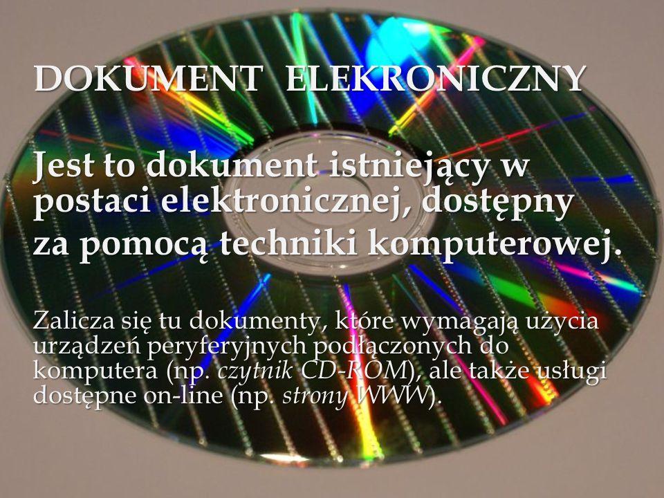 DOKUMENT ELEKRONICZNY