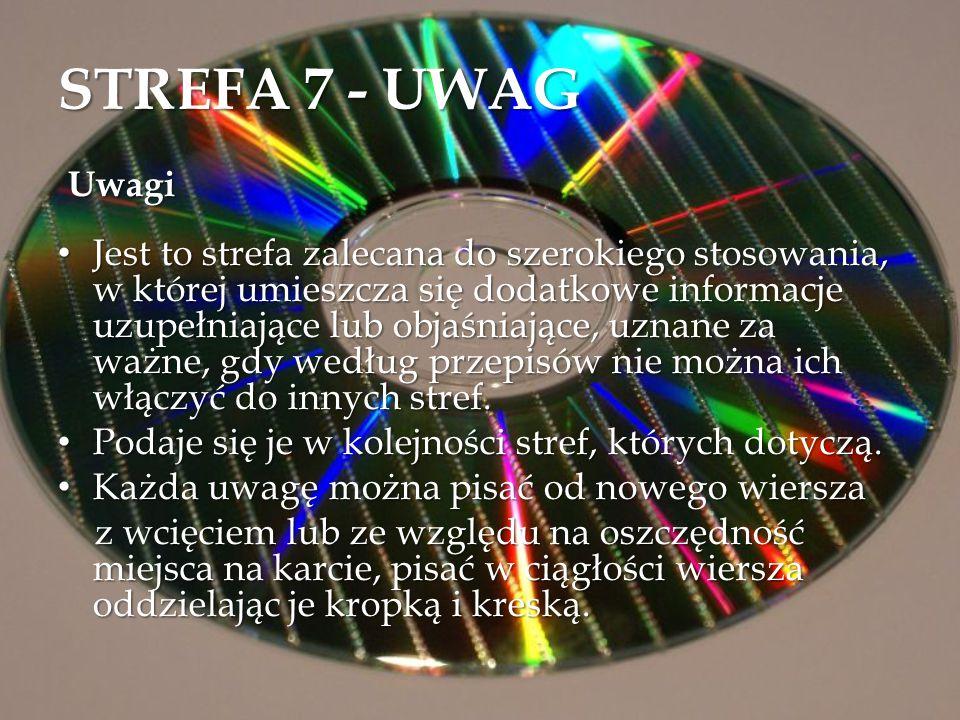 STREFA 7 - UWAG Uwagi.