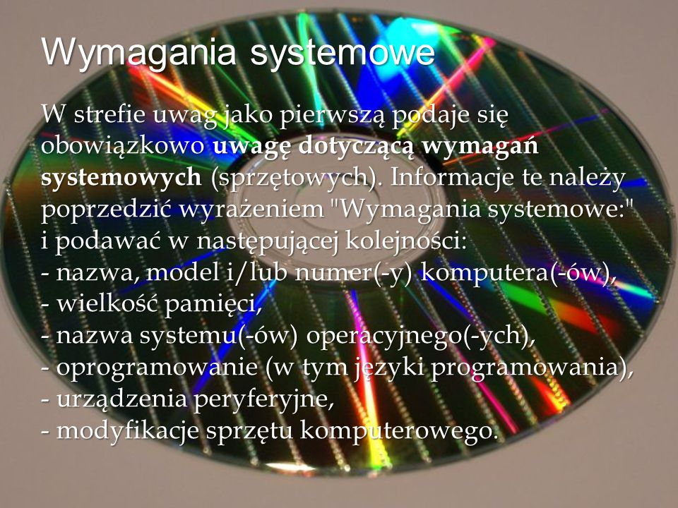Wymagania systemowe