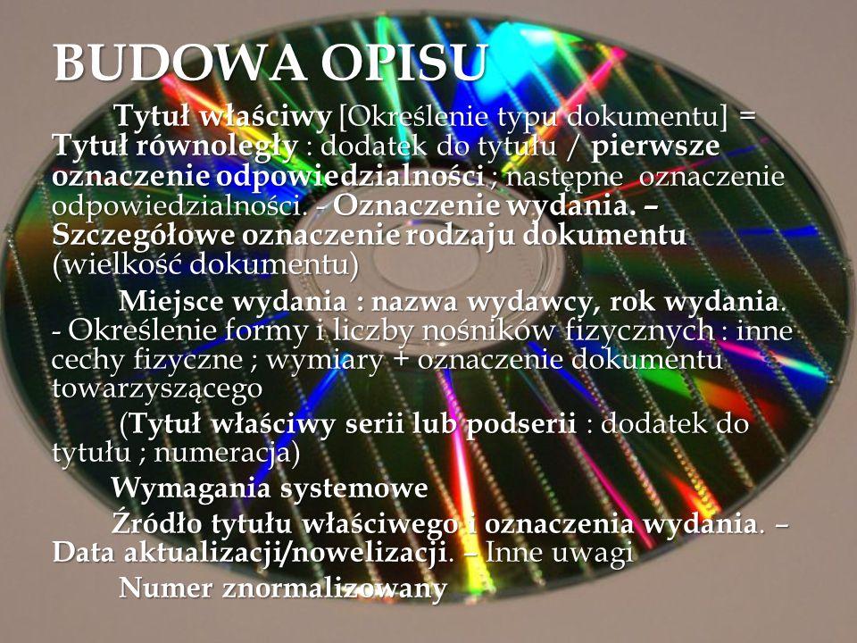 BUDOWA OPISU