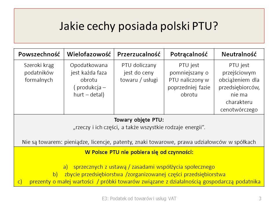 Jakie cechy posiada polski PTU
