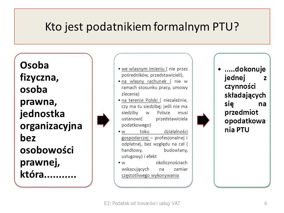 Kto jest podatnikiem formalnym PTU