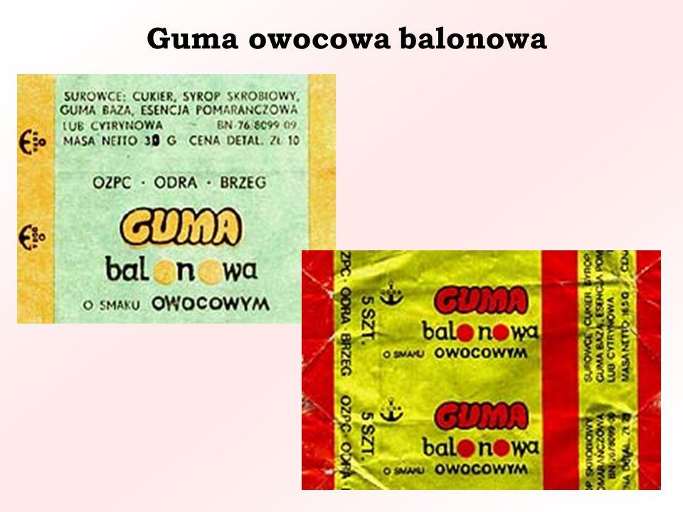 Guma owocowa balonowa