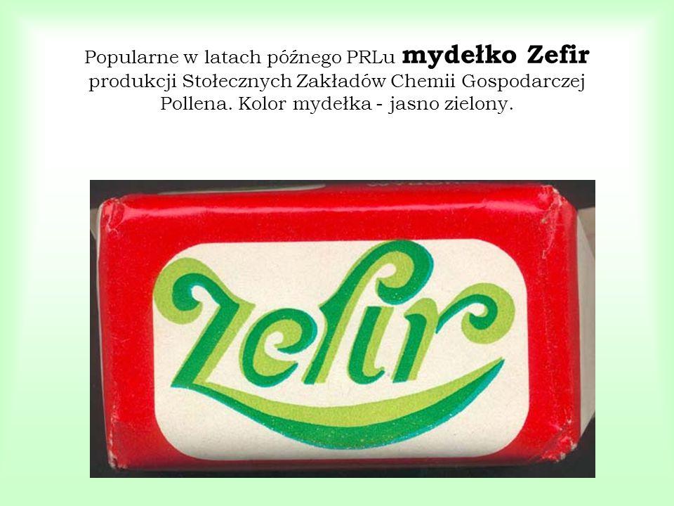 Popularne w latach późnego PRLu mydełko Zefir produkcji Stołecznych Zakładów Chemii Gospodarczej Pollena.
