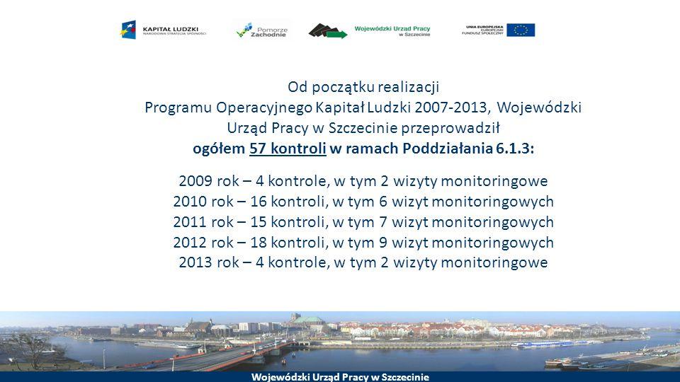 2009 rok – 4 kontrole, w tym 2 wizyty monitoringowe