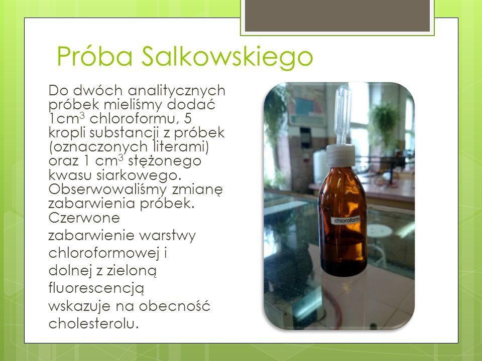 Próba Salkowskiego
