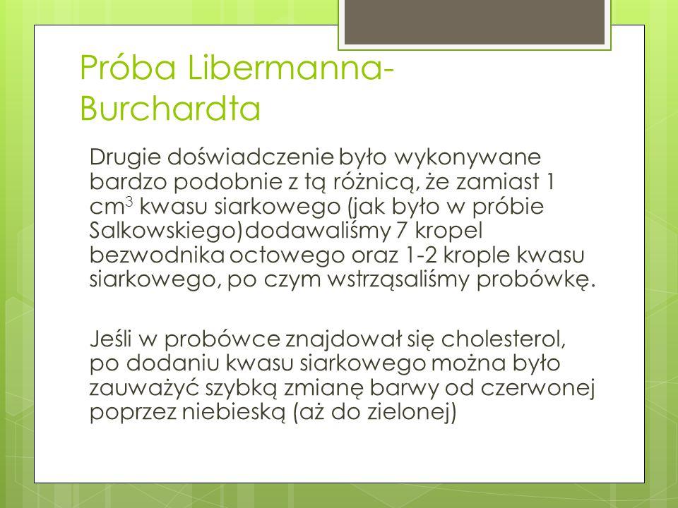 Próba Libermanna- Burchardta