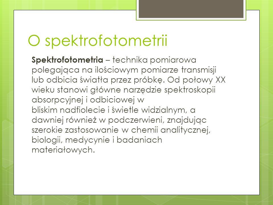 O spektrofotometrii