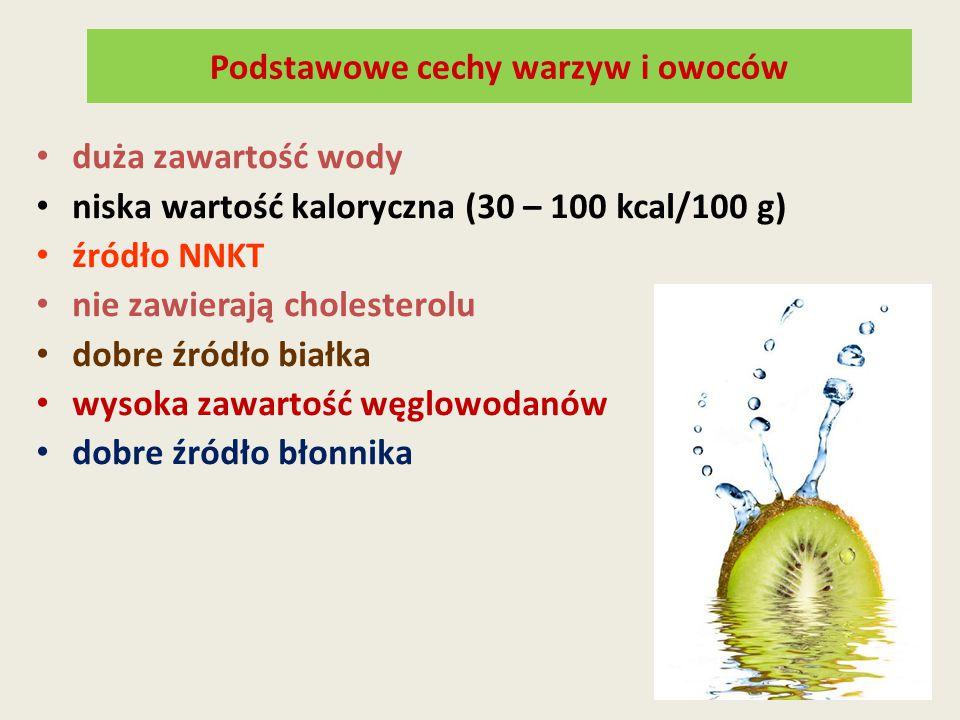 Podstawowe cechy warzyw i owoców