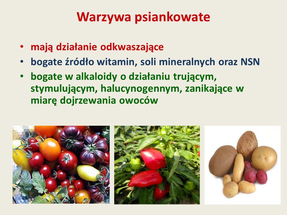 Warzywa psiankowate mają działanie odkwaszające