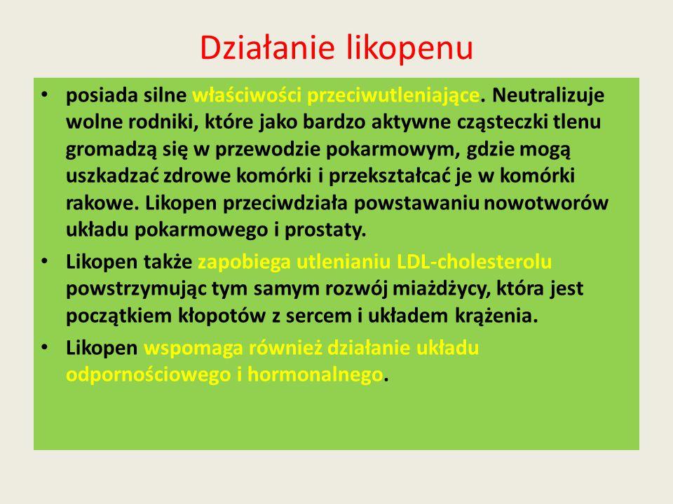 Działanie likopenu