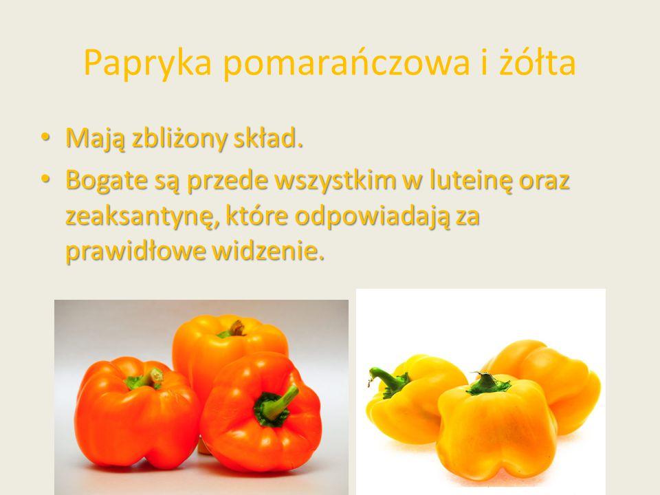 Papryka pomarańczowa i żółta