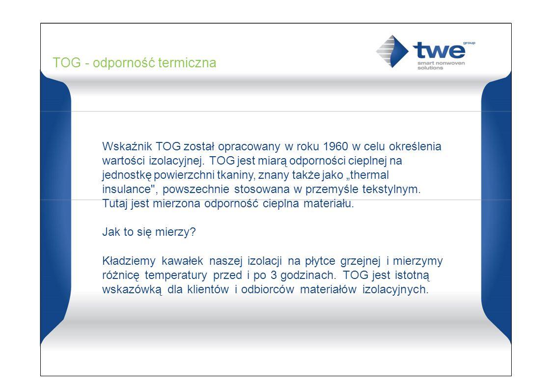 TOG - odporność termiczna
