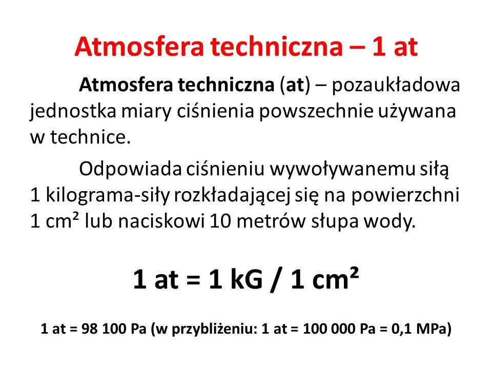 Atmosfera techniczna – 1 at