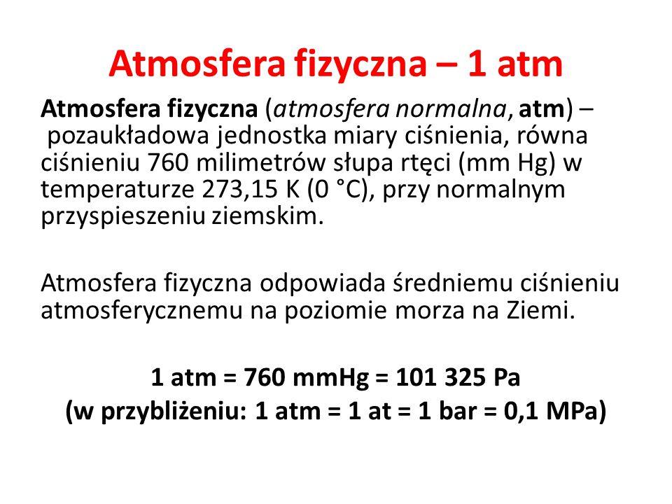 Atmosfera fizyczna – 1 atm