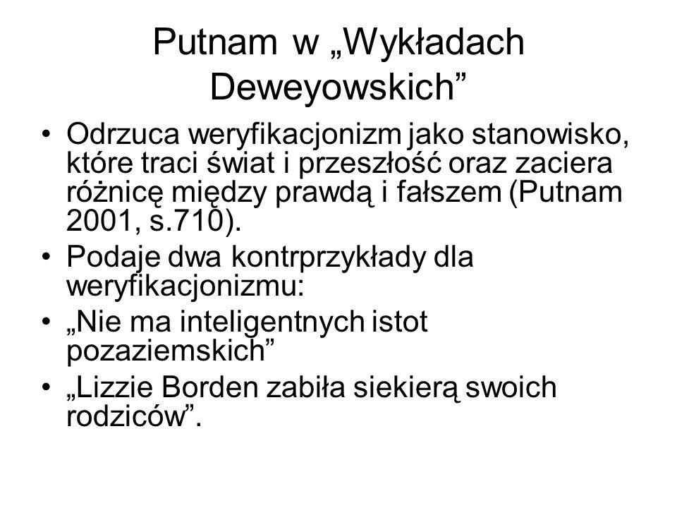 """Putnam w """"Wykładach Deweyowskich"""