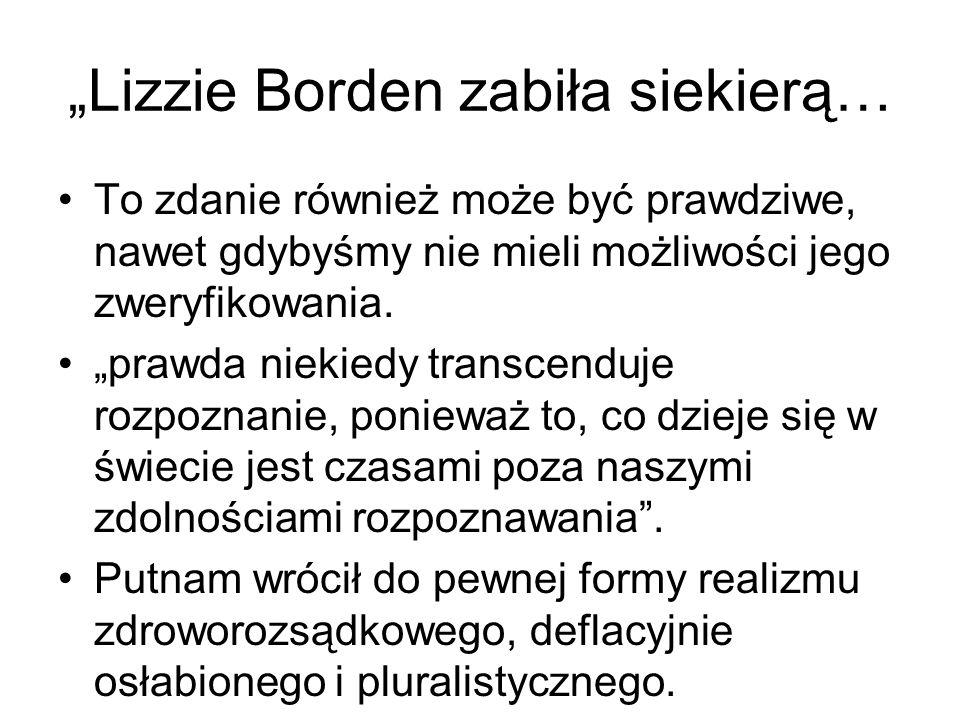 """""""Lizzie Borden zabiła siekierą…"""