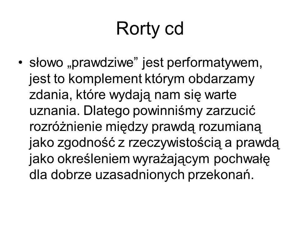 Rorty cd