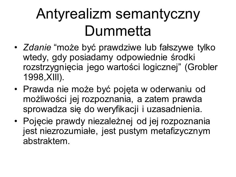 Antyrealizm semantyczny Dummetta