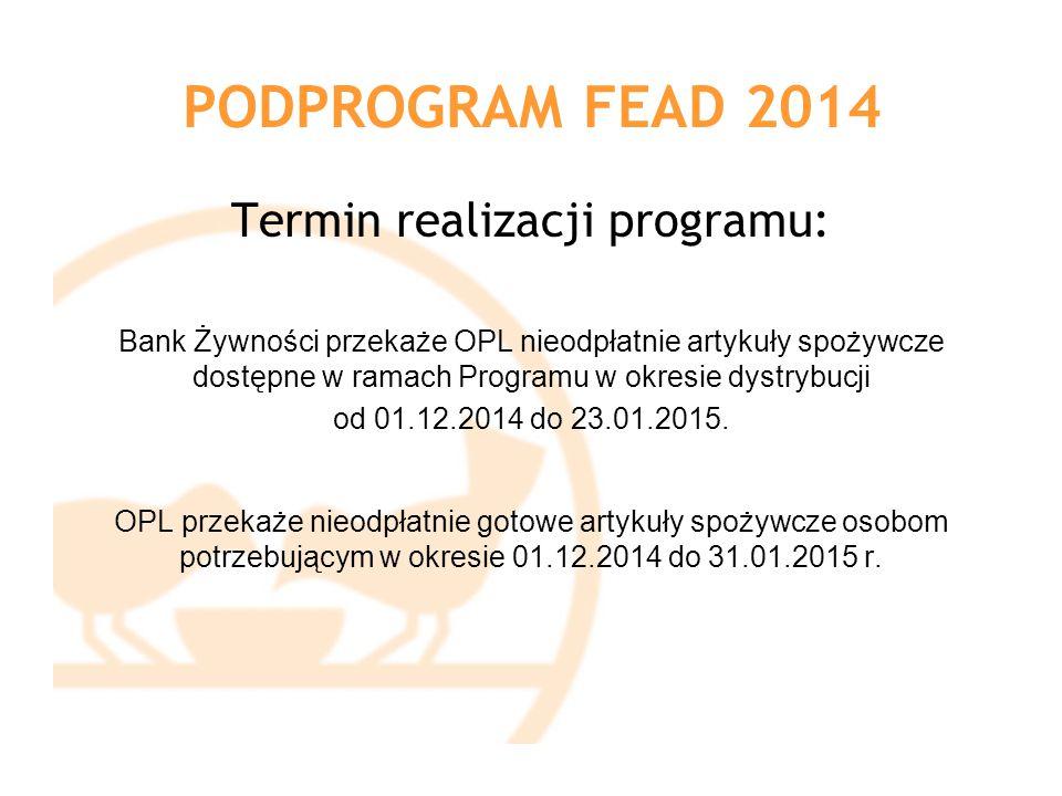 Termin realizacji programu: