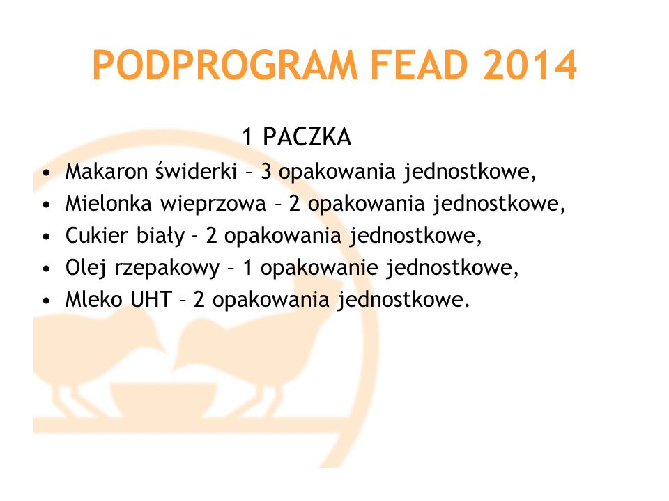 PODPROGRAM FEAD 2014 1 PACZKA