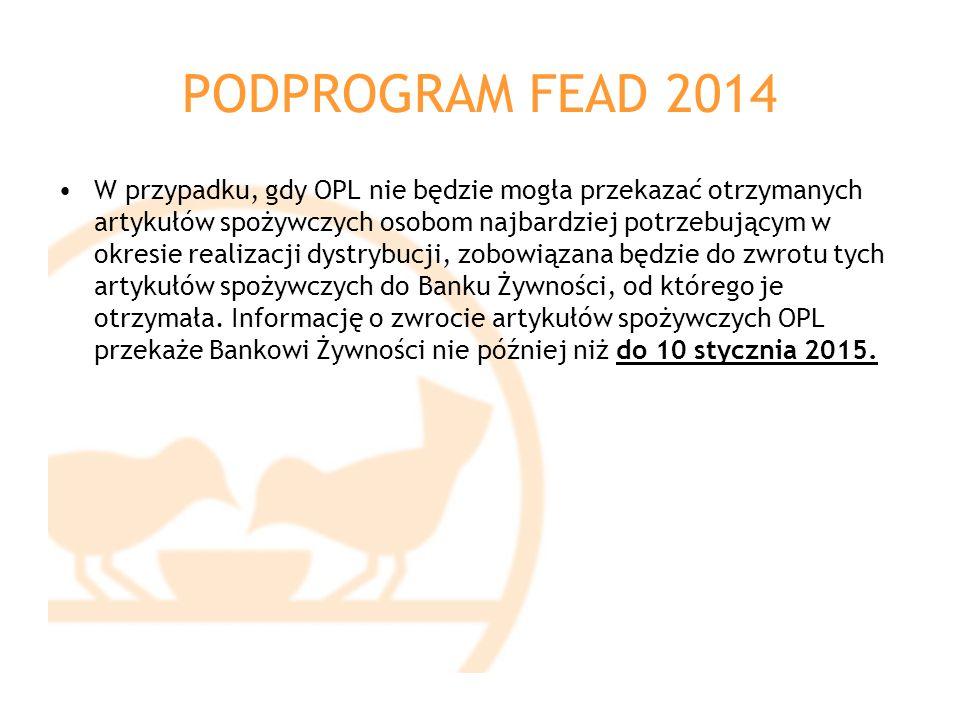 PODPROGRAM FEAD 2014