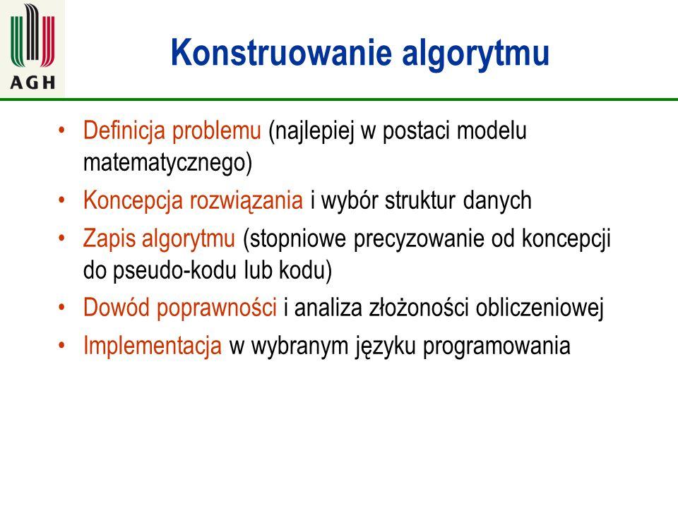 Konstruowanie algorytmu