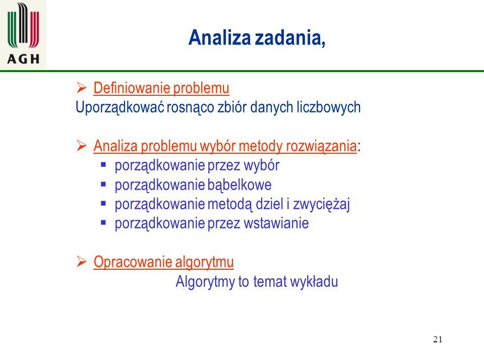 Analiza zadania, Definiowanie problemu