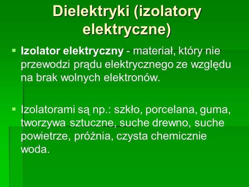 Dielektryki (izolatory elektryczne)