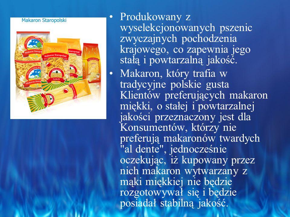 Produkowany z wyselekcjonowanych pszenic zwyczajnych pochodzenia krajowego, co zapewnia jego stałą i powtarzalną jakość.